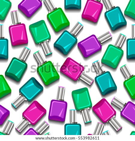 Seamless nail polish pattern. Vector illustration