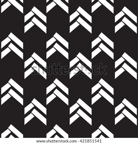 Seamless native vector arrow pattern black and white background