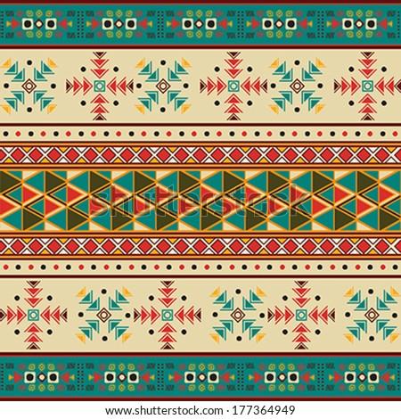 Seamless Navaho pattern - stock vector