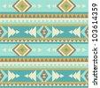Seamless navajo pattern - stock vector