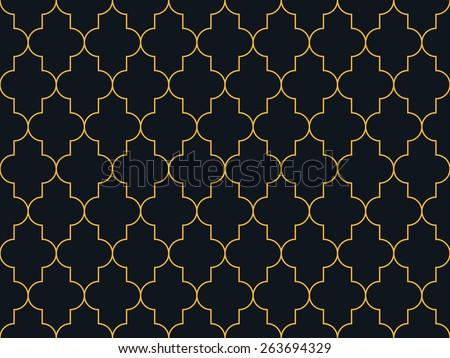 Seamless neon orange moroccan pattern vector - stock vector