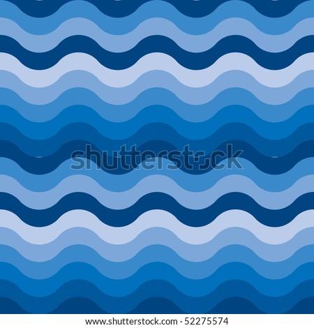 Seamless ocean or sea water background - stock vector