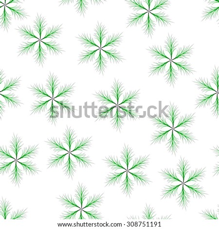 Seamless of green six-pointed star with thin twigs. fluffy seamless  for your design - stock vector