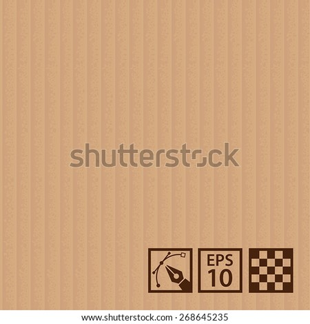 Seamless of realistic corrugated cardboard - stock vector