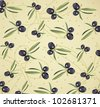 Seamless olive background - stock photo
