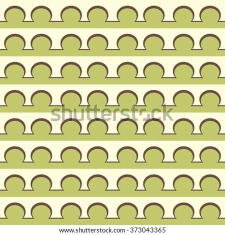 Seamless Olive Bubble Pattern. Vector Regular Texture - stock vector
