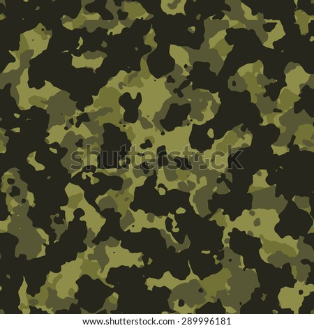 Seamless olive green fashion camouflage pattern vector - stock vector