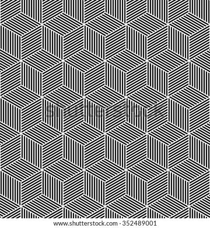 Seamless op art pattern. Geometric texture. Vector art. - stock vector