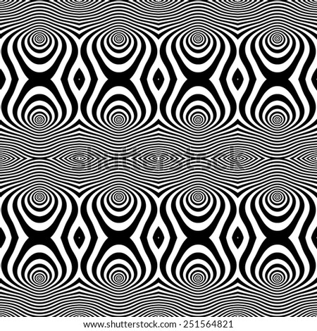 Seamless op art pattern. Vector art. - stock vector