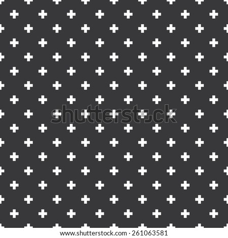 Seamless op art plus cross symbol pattern vector - stock vector