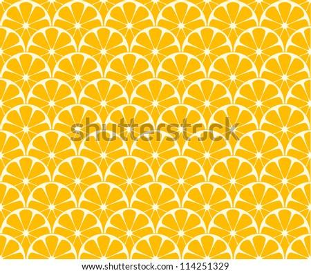 Seamless orange background. Vector image. - stock vector