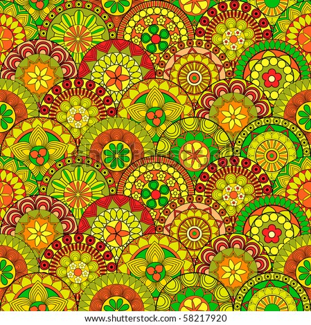 Seamless oriental pattern - stock vector