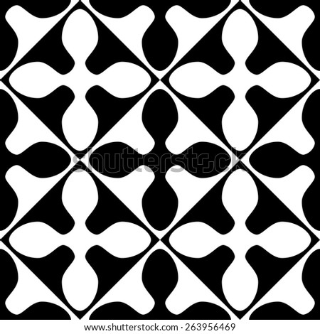 Seamless Oriental Pattern. Abstract Monochrome Background. - stock vector