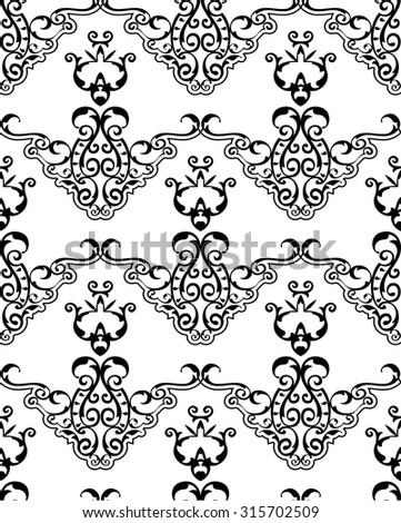 Seamless ornament fine pattern is on white - stock vector