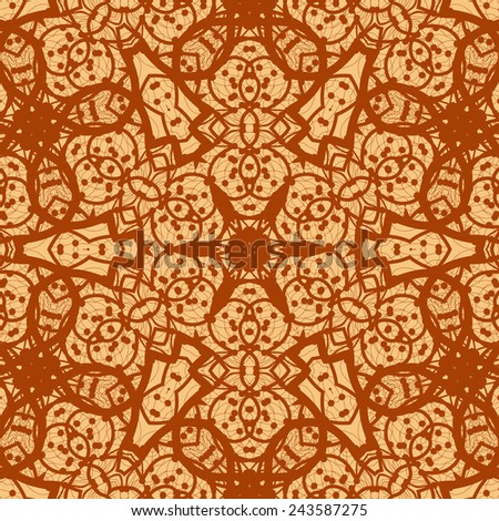 Seamless ornamental mandala background wallpaper. Vinatge design element.