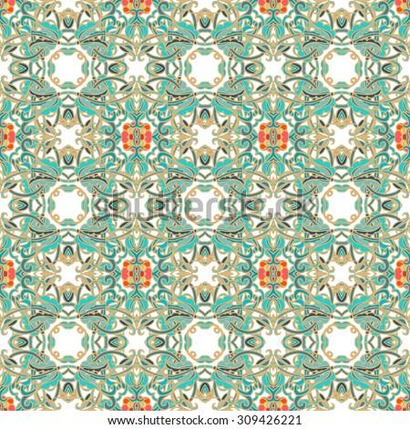 Seamless ornamental texture - stock vector