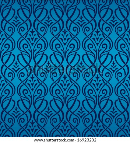 Seamless Ornamental Wallpaper - stock vector