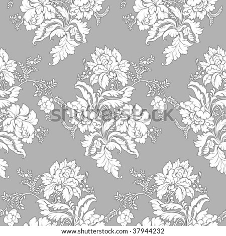 seamless ornate wallpaper - stock vector