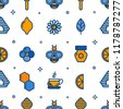 seamless outline pattern with...