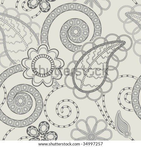 seamless paisley design - stock vector