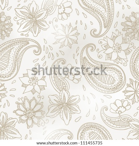 Seamless paisley pattern Fashionable modern wallpaper or textile  Paisley Floral Design - stock vector