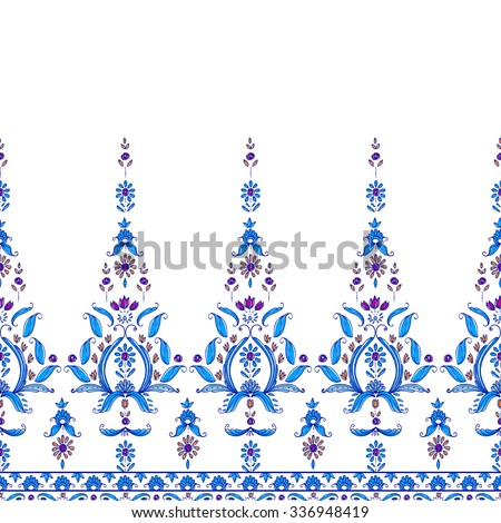 Seamless paisley pattern. Wallpaper decoration vector tile. Oriental floral ornament.  bohemian style, cachemire design. Wrapping print of India. For textile, wrapping, wallpaper - stock vector