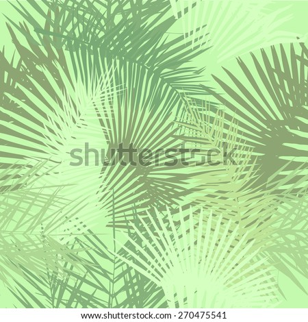Seamless palm leaves pale. Vector - stock vector