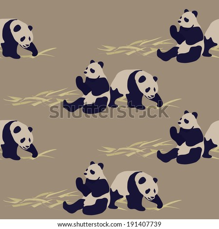 Seamless panda pattern