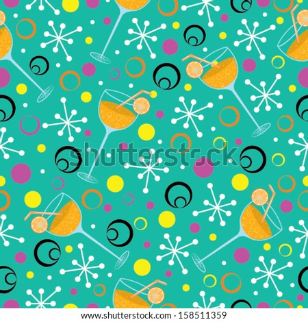 Seamless Party Pattern in Vector - stock vector