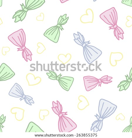 Seamless patern. Candy heart. - stock vector