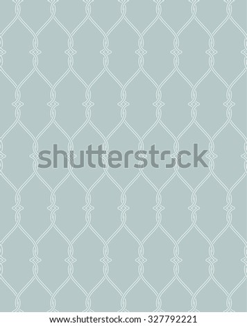Seamless pattern. Abstract background. Modern stylish texture. Repeating elegant geometrical ornament with intersecting hexagons and rhombus in nodes. Vector element of graphical design - stock vector