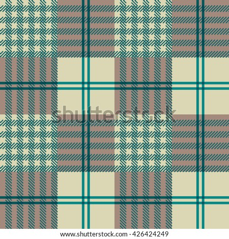 Seamless Pattern Abstract Forms Textille Plaid Background - stock vector