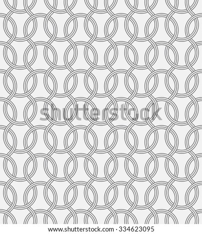 Seamless pattern. Abstract grid background. Modern stylish texture. Repeating elegant ornament with intersecting rounded lines. Vector element of graphical design - stock vector