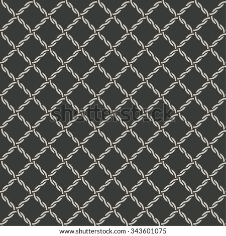 Seamless pattern. Abstract grid background. Modern stylish texture. Repeating elegant ornament with rhombus tiles. Vector element of graphical design - stock vector
