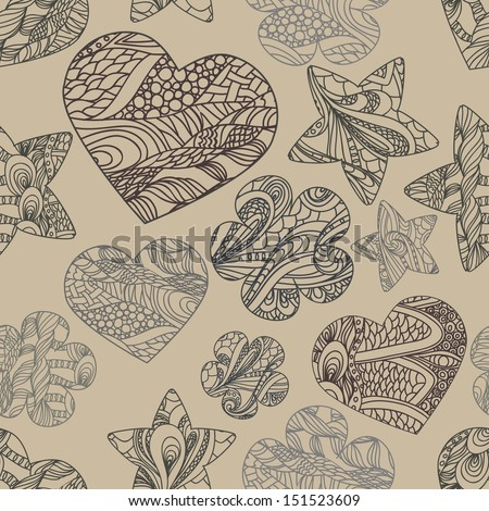 seamless pattern. Abstract hand drawned endlless texture, EPS 8 format 8 - stock vector