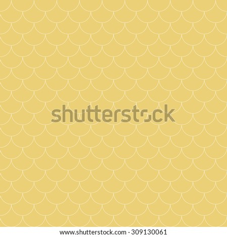 Seamless pattern. Abstract ornamental textured background. Gentle pastel texture with repeating geometrical shapes, semicircles, arcs, scales. Vector element of graphical design