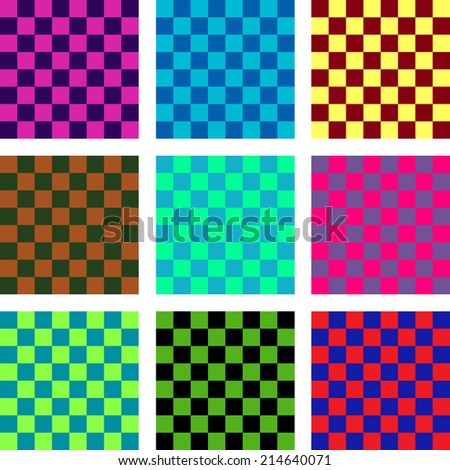 Seamless Pattern. Abstract Psychedelic Art Background. Vector Illustration. EPS10 - stock vector