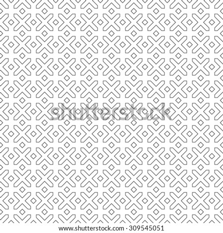 Seamless pattern. Abstract simple textured background. Minimalist classical texture with regularly repeating geometrical, shapes, crosses and rhombuses. Vector element of graphical design
