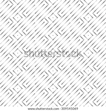 Seamless pattern. Abstract small dotted background. Modern stylish texture with regularly repeating geometrical shapes, zigzag dotted lines, rhombuses. Vector element of graphic design - stock vector