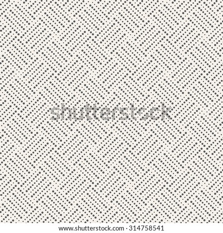 Seamless pattern. Abstract small dotted background. Modern stylish texture with regularly repeating geometrical shapes, dots, dotted lines, rhombuses. Vector element of graphical design - stock vector