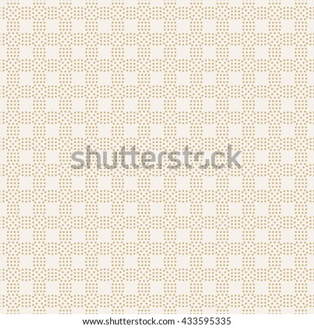 Seamless pattern. Abstract small dotted background. Simple stylish texture with regularly repeating geometrical shapes, dotted circles, rhombuses. Vector element of graphical design - stock vector