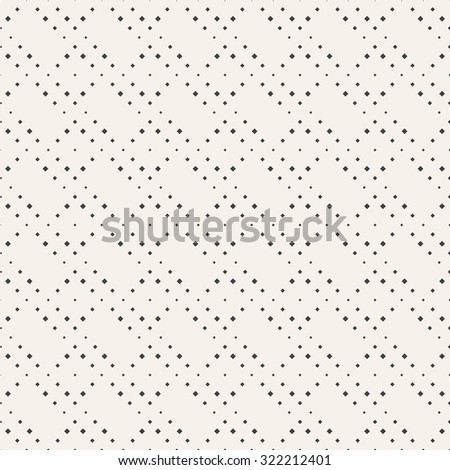 Seamless pattern. Abstract small textured background. Modern stylish texture. Regularly repeating geometrical ornament with small rhombuses and squares. Vector element of graphical design