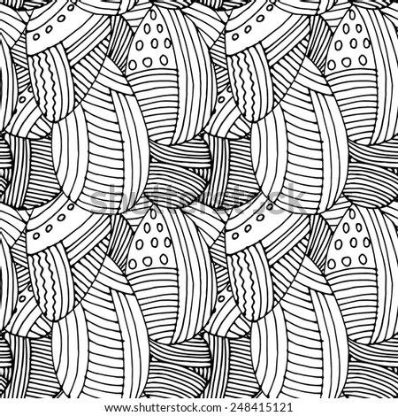 Seamless pattern abstract. White and black 1 - stock vector