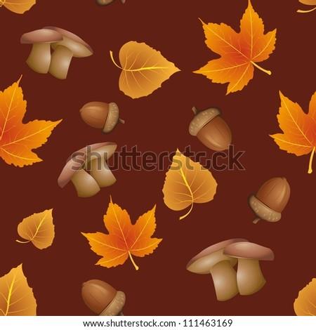 seamless pattern - Autumn - stock vector