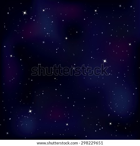 Seamless pattern background. Endless texture with space. Night sky with stars. Vector illustration. - stock vector