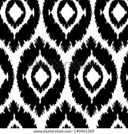 seamless pattern background, strokes, black and white, oval shapes - stock vector