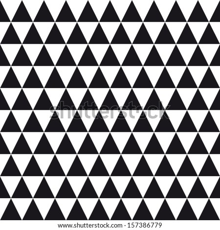seamless pattern background triangle, retro vintage design vector - stock vector