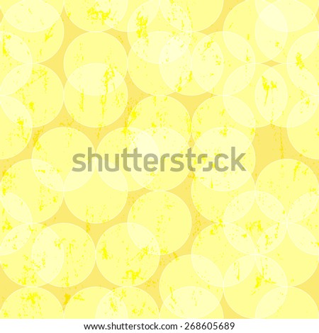 seamless pattern background, with circles, grungy - stock vector