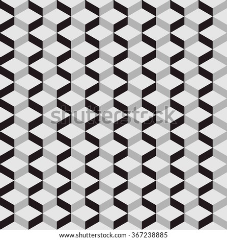 seamless pattern background with optical illusion.3D pattern - stock vector