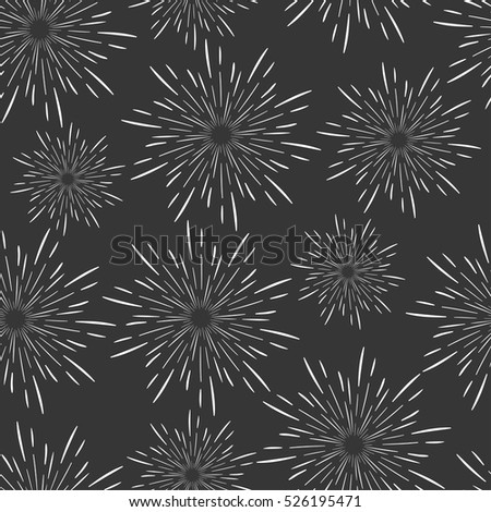 Seamless pattern background with rays